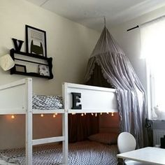 8 ideas for hacking the Ikea Kura bed including my castle Kura bunk bed with a secret ball pit Kura Bed Hack, Ikea Kura Hack, Ikea Hack Kids, Ikea Hacks, Ikea Kids Bed, Ikea Bunk Bed, Loft Bunk Beds, Kura Cama Ikea, Bunk Bed Canopies