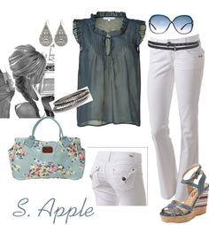 Blue Top, created by sapple324 on Polyvore