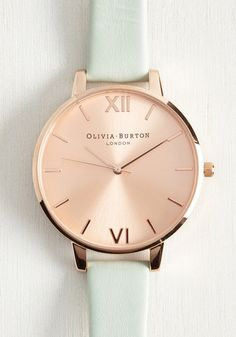 Undisputed Class Watch in Mint & Rose Gold - Big, @ModCloth