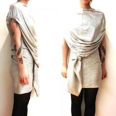 Mini dress silver color