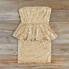 Gold Peplum Dress!!! <3