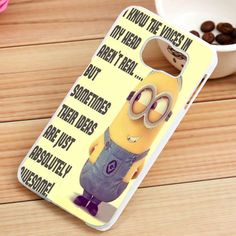 Minions Quotes Custom Samsung Galaxy S3, S4, S5, S6, S6 Edge and S7 Case - gogolfnw