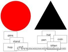 Montessori Noun and Verb Lesson - Printable Montessori Grammar Materials for Montessori Learning at home and school.
