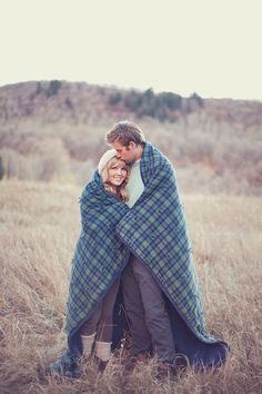The blanket would also be great for a cute cuddling shot like this!