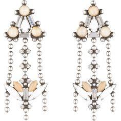 DANNIJO Sagrada ($370) ❤ liked on Polyvore featuring jewelry, earrings, accessories, swarovski crystal earrings, dannijo jewelry, oxidized jewelry, long earrings and dannijo earrings