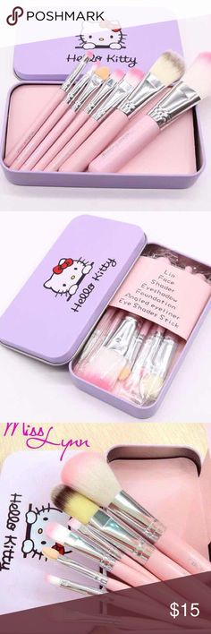 🌷🌷New! Pink Hello Kitty 7pcs Makeup Brushes 🌷🌷 Brand New Never Used Makeup Brushes & Tools