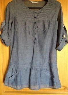 À vendre sur #vintedfrance ! http://www.vinted.fr/mode-femmes/blouses-and-chemises/26334192-blouse-ultra-legere-tissu-fin-coloris-jean
