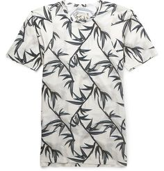 SLIM-FIT PALM-PRINT COTTON T-SHIRT MARC JACOBS