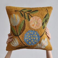 This handmade #punchneedle pillow from @bookhou #bohemehomestaginglikes