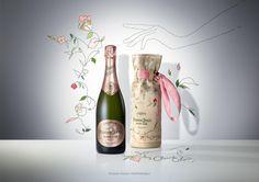 Limited Edition Cocktail Bag by Claire Coles for Perrier-Jouët Blason Rosé.