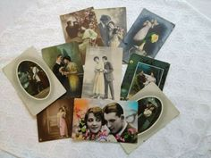 10 pcs tinted photo-postcards, beautiful ladies, men, romantic couples in love Couples In Love, Romantic Couples, Photo Postcards, Vintage Postcards, Beautiful Ladies, Real Life, Lady, Photos, Vintage Travel Postcards