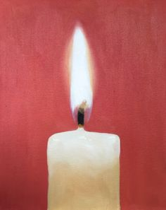 Candle - Art Print - 8 x 10 inches - from original painting by J Coates by JamesCoatesFineArt on Etsy