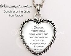 Maid of Honor gift - Daughter is Maid of Honor - from Bride to Daughter- From Mother to Daughter, maid of honor, matron of honor, bridesmaid Maid Of Honour Gifts, Matron Of Honour, Maid Of Honor, Bride And Groom Gifts, Small Gift Boxes, The Wedding Date, My Little Girl, Custom Items, Heart Charm