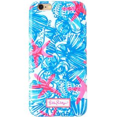 Lilly Pulitzer iPhone 6/6S Cover - She She Shells ($34) ❤ liked on Polyvore featuring accessories, tech accessories, phone, phone cases, fillers blue, bay blue she she shells tech, iphone cover case, lilly pulitzer, iphone shell case and iphone cases
