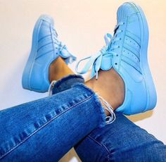 shoes adidas supercolor adidas superstars superstar half blue adidas style fashion pastel sneakers bright sneakers