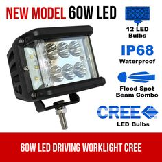 This LED driving work light consist of high intensity CREE LEDS which is 6 at the center and 3 in each side. For more info check out our driving lights. Led Work Light, Led Light Bars, Rescue Vehicles, Long Lights, Night Driving, Power Led, Police Cars, Bar Lighting, New Model