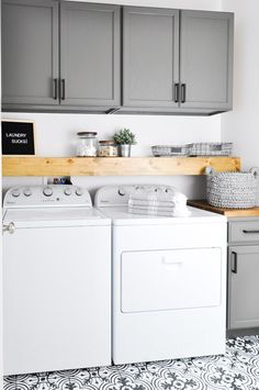 DIY Laundry Room Storage Shelves Ideas Laundry room decor Small laundry room organization Laundry closet ideas Laundry room storage Stackable washer dryer laundry room Small laundry room makeover A Budget Sink Load Clothes Laundry Room Remodel, Laundry Room Cabinets, Laundry Closet, Small Laundry Rooms, Laundry Room Organization, Laundry Room Design, Budget Organization, Diy Cabinets, Laundry Shelves