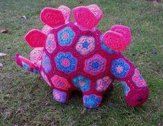 Stegosaurus from African flowers