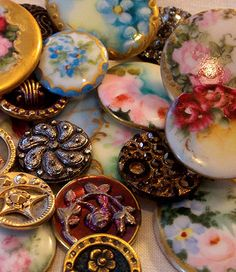 Exquisite Victorian buttons