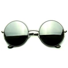 0906015673 Round metal mirrored lens sunglasses that feature reflective mirror silver and  gold lenses. These high