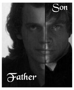 Anakin and Luke Skywalker - Star Wars
