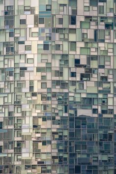 Windows of Jean Nouvel Apartments. Jean Nouvel, Habitat Collectif, A As Architecture, Architecture Program, Glass Facades, Facade Design, Cladding, Windows And Doors, Textures Patterns