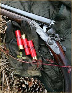 """The Hammered Double """"SxS""""(side by side) shotgun."""