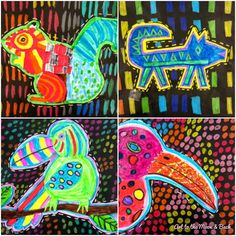 Art to the moon & back: grade molas brincadeiras com as Art Inspo, Inspiration Art, Middle School Art, Art School, Doodle Drawing, Kristina Webb, 6th Grade Art, Fourth Grade, Animal Art Projects