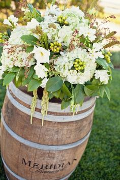Alter decor for a Winery wedding