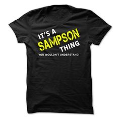 It is a SAMPSON Thing Tee