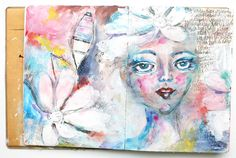 purplemailbox.com: Art. Paint. Journal. Play... Tweaking the Spreads...