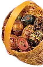Decorating Easter Eggs - Catholic Culture...putting Christ back into the Easter egg decorations.  LOVE this