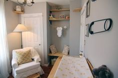 Before & After: Beige Room Glammed Up for a Baby Nursery — Professional Project