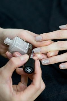 The most classic soft grey manicure. #nails