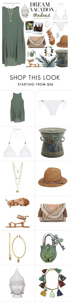 """""""Dream Vacation"""" by mylkbar ❤ liked on Polyvore featuring Bodkin, Heidi Klein, Hansen, Brooklyn Hat Co., Billini, Kale, Shashi, Lucky Brand, Urban Trends Collection and contestentry"""