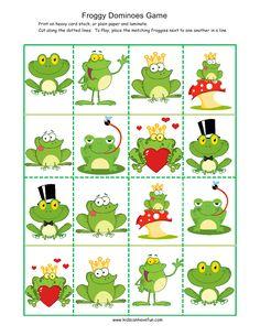 Bilder på grodor med olika attribut. Bra för t.ex. bisatsträning i Finns i sjön. (Har du grodan som räcker ut tungan?, Har du grodan som sitter på en svamp?)