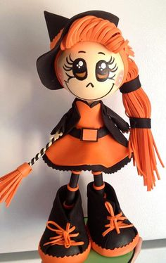 Halloween Handmade Witch Fofucha Doll by maribelgalvan on Etsy, $21.00