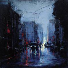 Urban Landscapes - Blue Rain | Lindsey Kustusch