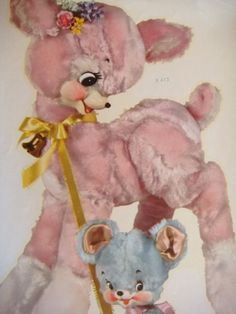 Etsy Transaction - Meyercord Decal Transfer - Pink Deer and Blue Bear von helvarsh deer | We Heart It