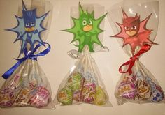 12 PJ Masks Birthday Party Favors Treats for by OhMyPartyFavors