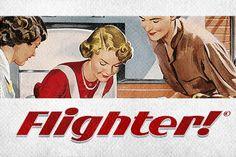 Flighter Font by Mans Greback on @creativemarket