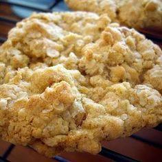 Crispy, Chewy Oatmeal Walnut Cookies