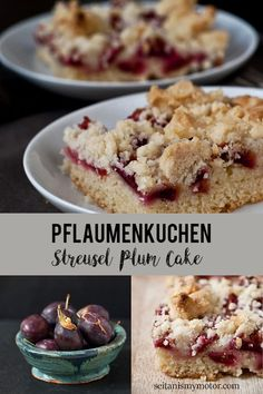 This streusel plum cake has a soft and sweet crumb plus a buttery streusel topping. #easy #cake #vegan #baking Apple Recipes, Pumpkin Recipes, Fall Recipes, Streusel Cake, Streusel Topping, Seitan, Easy Vegan Cake Recipe, German Plum Cake, Traditional German Food