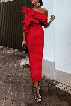 Ideas wedding guest outfit red fashion for 2019 Trendy Dresses, Nice Dresses, Casual Dresses, Dresses For Work, Sexy Dresses, Formal Dresses, Simple Dresses, Elegant Summer Dresses, Classic Dresses