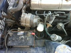 Battery and alternator area