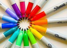 rainbow of sharpies