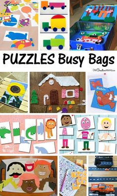 Love these busy bags! Lots of ideas for keeping kids entertained and learning on the go or while I get my work done. {OneCreativeMommy.com}