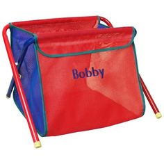 Hoohobbers Primary Color Folding Toy Box - Embroidered Blue - 458-01E- $79.99