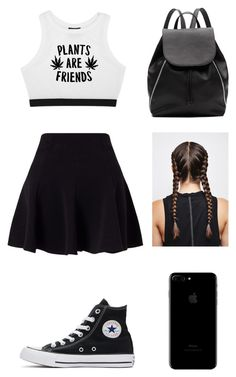 """One day of school left"" by laurelhoward ❤ liked on Polyvore featuring Minga, Miss Selfridge, Converse and Witchery"