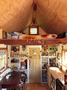 Lily Duvall's Tiny House - Loft Kitchen and Dining